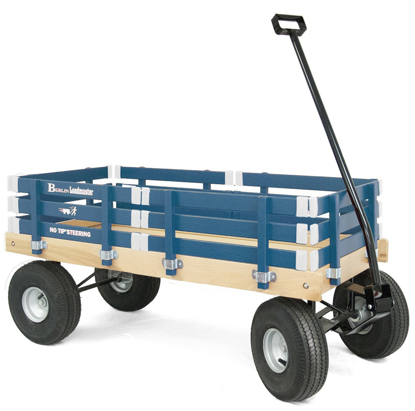 Berlin F600 Amish-Made All-Terrain Tires Loadmaster Ride-On Wagon, Navy by Berlin