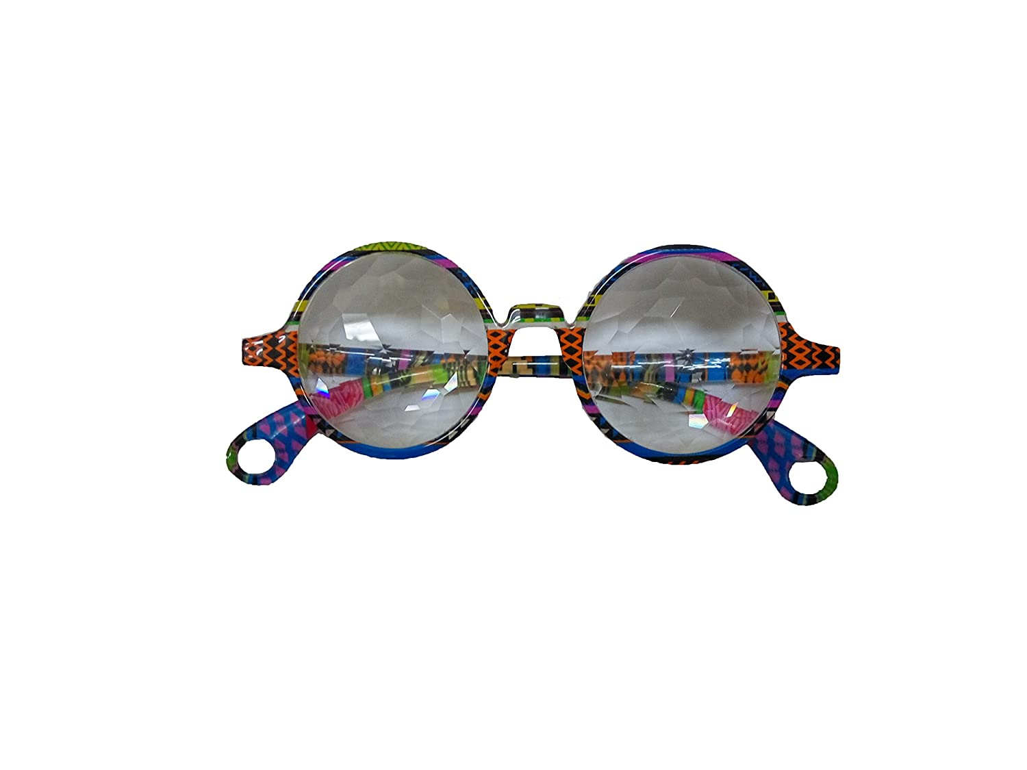 Sparkling John Lennon's Kaleidoscope Glasses with Transparent Lenses Izgut Ltd