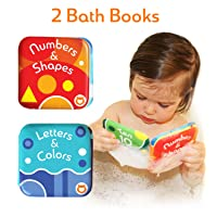 Baby Bath Books, Pack of 2 by Baby Bibi. Alphabet & Numbers Books. Safe, Waterproof...