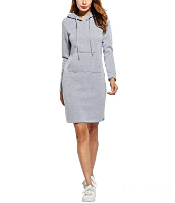 wholesale dealer 361e3 7239f Damen Hoodie Kleid, SummerRio Damen Langarm Slim Fit ...