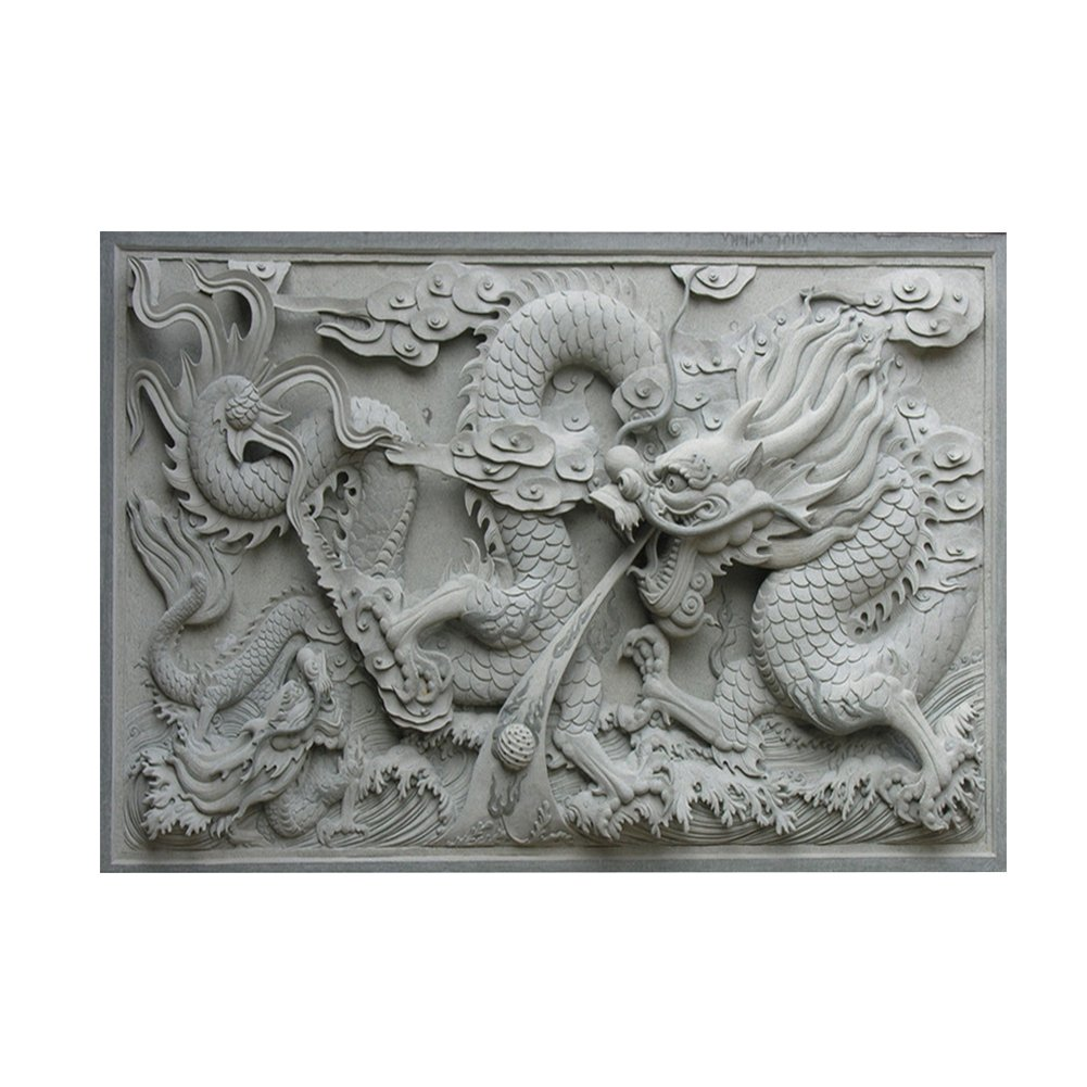 Aquarium Background HD Dragon 3D Chinese Ancient Style PVC Poster Easy to Apply Wallpaper Fish Tank Landscape Decorations (61 * 30cm) Huhushop