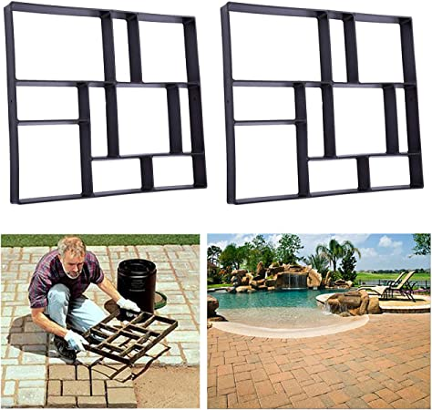 x 24 in x 24 in Courtyard Patio Tools Country Stone Walk Maker 2 in