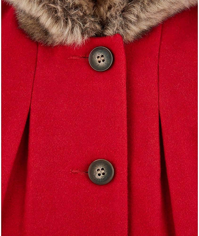 Mothercare Flow Wool Blend Coat with Hood Red Giubbotto Unisex-Bimbi