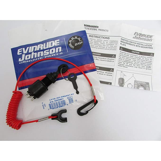 amazon com omc ignition switch and lanyard 5005801 automotive rh amazon com Ignition Switch Wiring Diagram Electric Choke Wiring