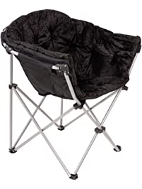folding saucer moon chair short plush faux fur padded club seat adult size black