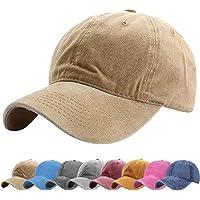 Tuopuda Basebollkeps klassisk unisex justerbar tvättad färgad bomull baseballkeps utomhussport hatt