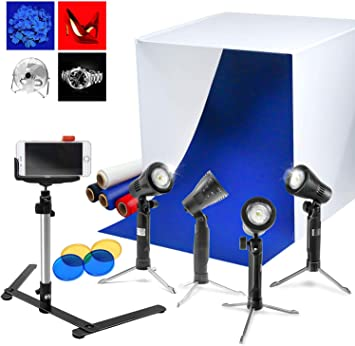 Mobile Small Fill Light Portable LED Live Shooting Light Color : Blue