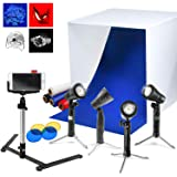 """LimoStudio AGG1071 24"""" Cubic White Photo Video Studio Box Tent for Photo Studio (4 LED Table Top Lights with Stand Mini…"""