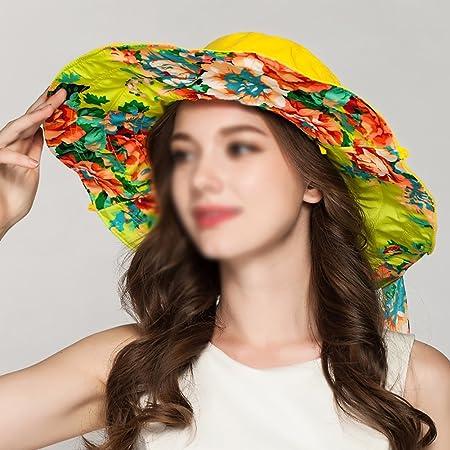 2d6883d9abc Sun Hats YXX- Women s Wide Brim Summer Fashion Girls  Sun Visor Cap Bucket  Hat