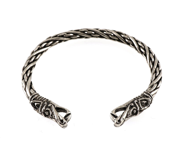 amazon com handmade small viking dragon head pewter bracelet jewelry