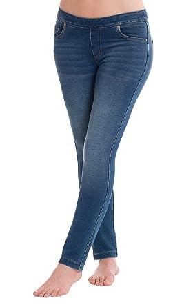 29c3075dcbe84 PajamaJeans Women's Skinny Stretch Knit Denim Jeans, Vintage Wash, XX-Small  / 00