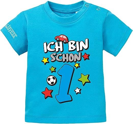 Digital 1 Baby T-Shirt Ich bin schon 1 80//86 Geburtstag Jungen Gr