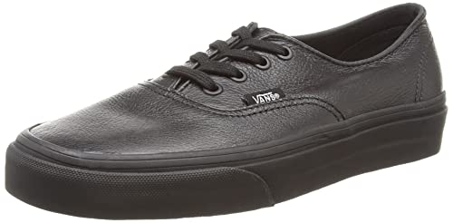 Vans U Authentic Decon Leather - Zapatillas Bajas, Unisex, Color Negro (Black/Black), Talla 38