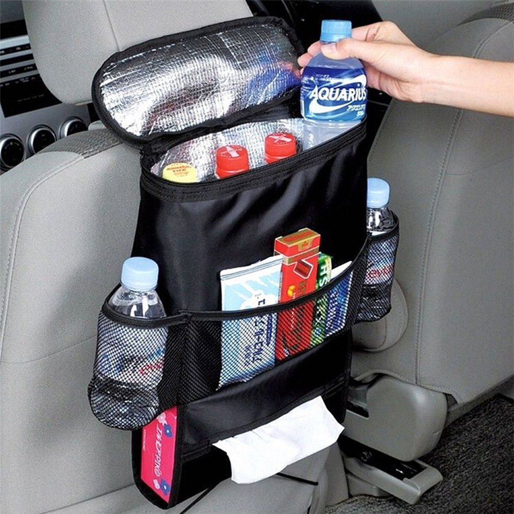 Auto Seat Organiser, Kfnire Multi-Pocket Travel Storage Bag/Insulated Car Seat Back Drinks Holder Cooler Bag