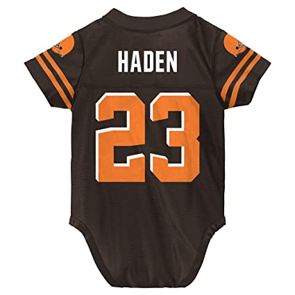 new product ba62b 77bf3 Outerstuff Joe Haden NFL Cleveland Browns Brown Home Infant Newborn Jersey  (3M-9M)
