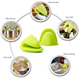 Silicone Pot Holder Oven Mini Mitt 1 Pair (2pc), Cooking Pinch Grips - Heat Resistant