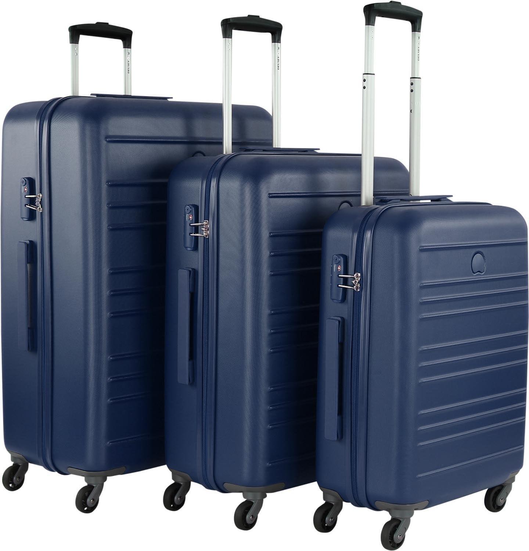 Set Trolley Grande, Medio e Piccolo Spinner 4 Ruote   Delsey Carlit   003445986-Rosso