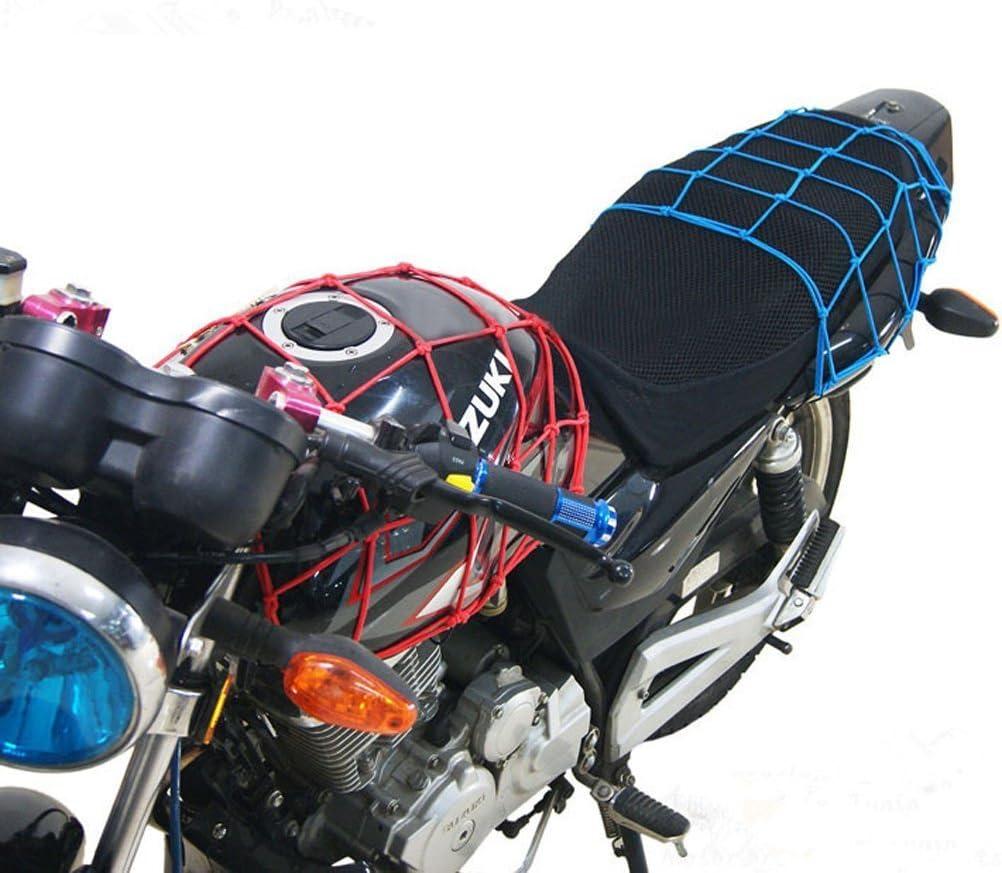 WINOMO 40*40cm Luggage Cargo Bungee Net Bag 6 Hooks Bike Motorcycle Helmet Mesh Storage Carrier Bag Yellow