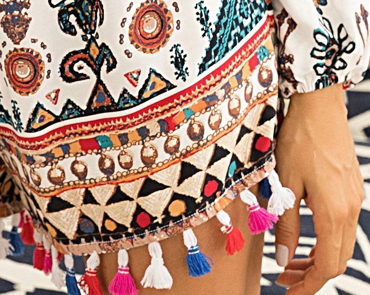 Winwinus Womens Baggy Fringed 3//4 Sleeve Style Shorts Romper Playsuit