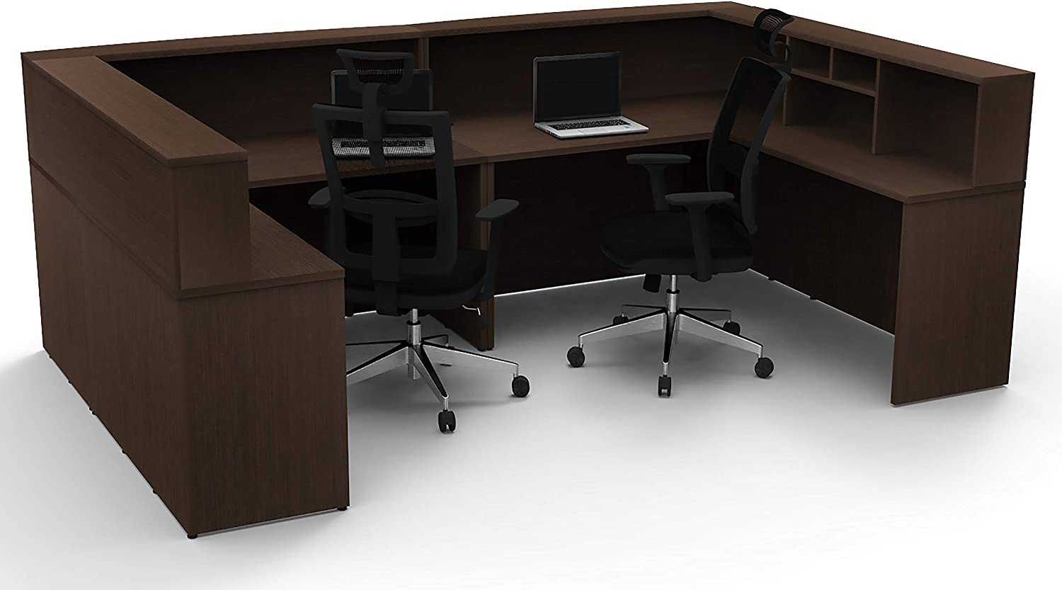 Update Your Spaces with Commercial Grade Reception Collaboration Furniture. Office Reception Desk Reception Corner Collaboration Furniture Model 4307 8 Pc Group Contemporary Espresso Color