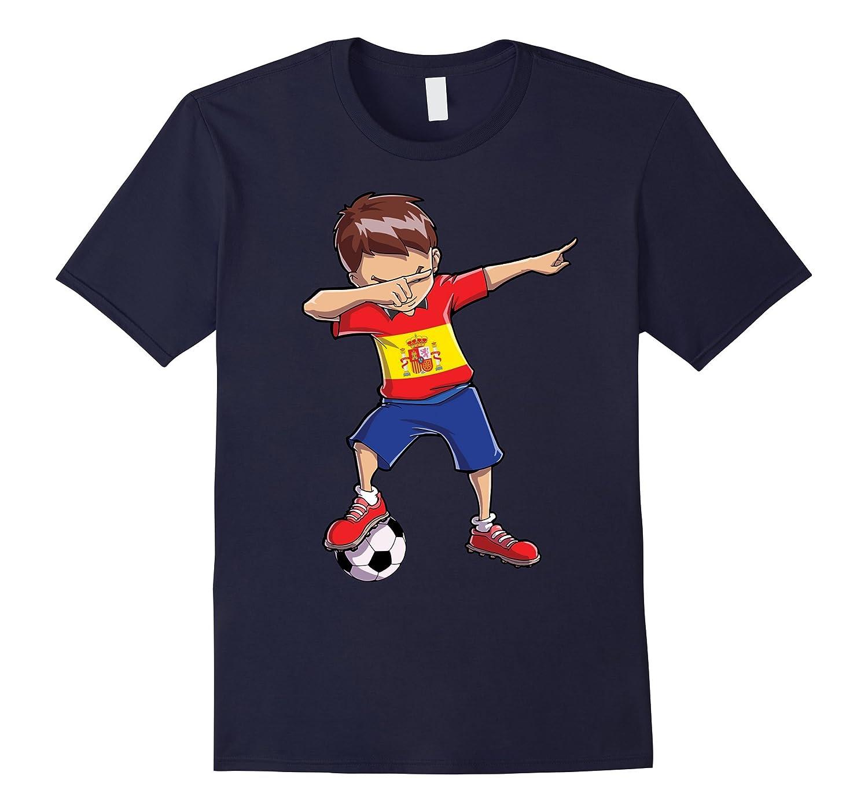 Soccer Boy Dabbing T shirt Spain Spanish Football Boys Gift-ANZ