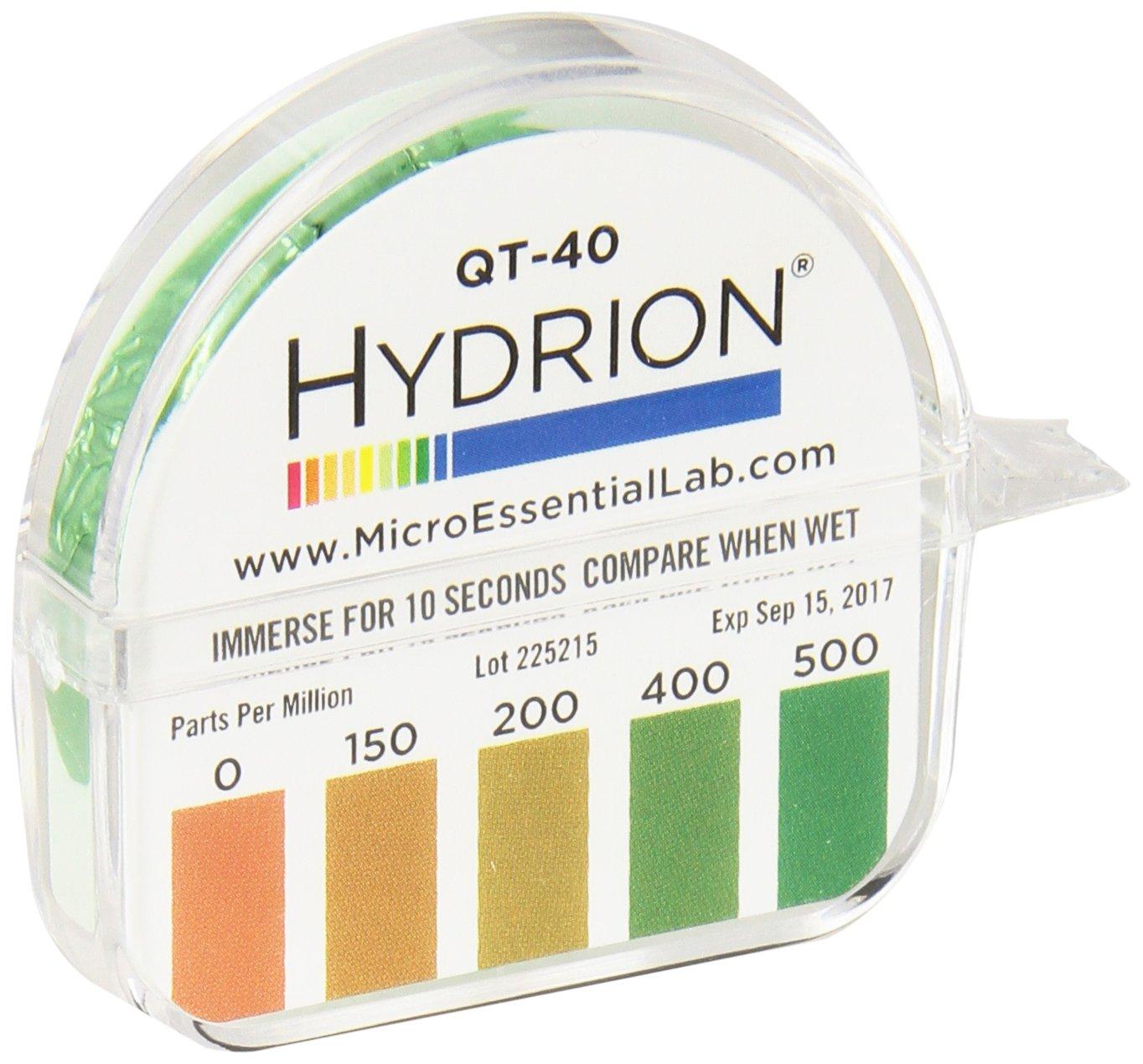 Micro Esential QT-40 Quat Dispenser, 0-500 PPM 10 Roll Box by MicroEssential