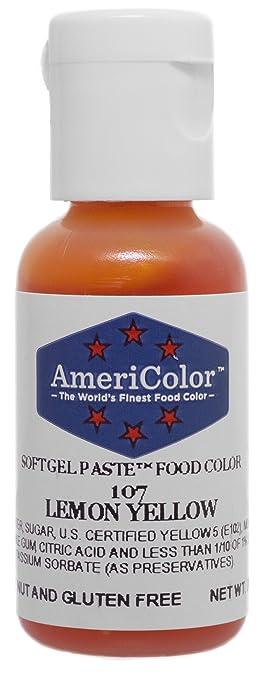 Amazon.com: Americolor Soft Gel Paste Food Color, .75-Ounce, Lemon ...