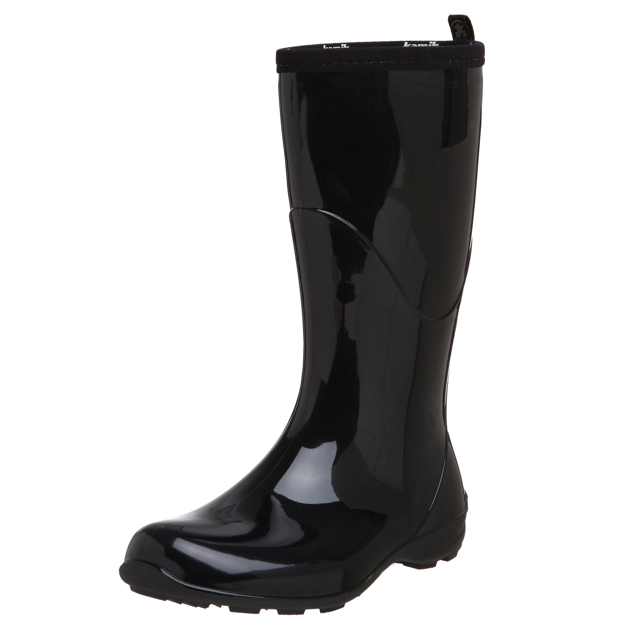 Kamik Women's Heidi Rain Boot,Black/Noir,7 M US