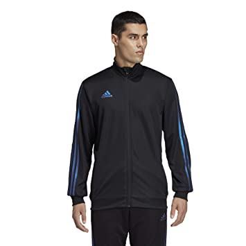 b7310a3cdd83 adidas Men's Tiro Track Jacket,Black/Blue Pearl Essence,S/P