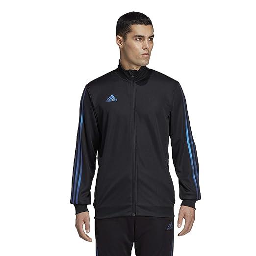 bd7fe6bca adidas Men's Alphaskin Tiro Training Jacket, Black/Blue Pearl Essence,  X-Small