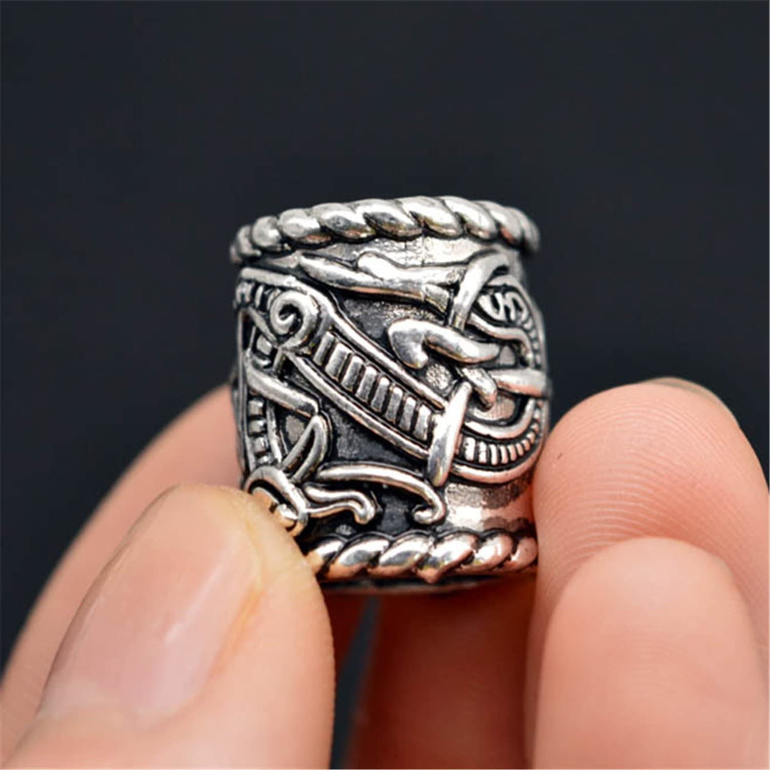 Hair Beards Making GraceAngel 5pcs Norse Viking Rune Scandinavian Beads for Pendant Necklace Bracelet