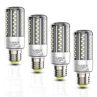 Bombilla LED E27 Blanco Frio 15W (Equivalente a 120W) Lampara Led ...