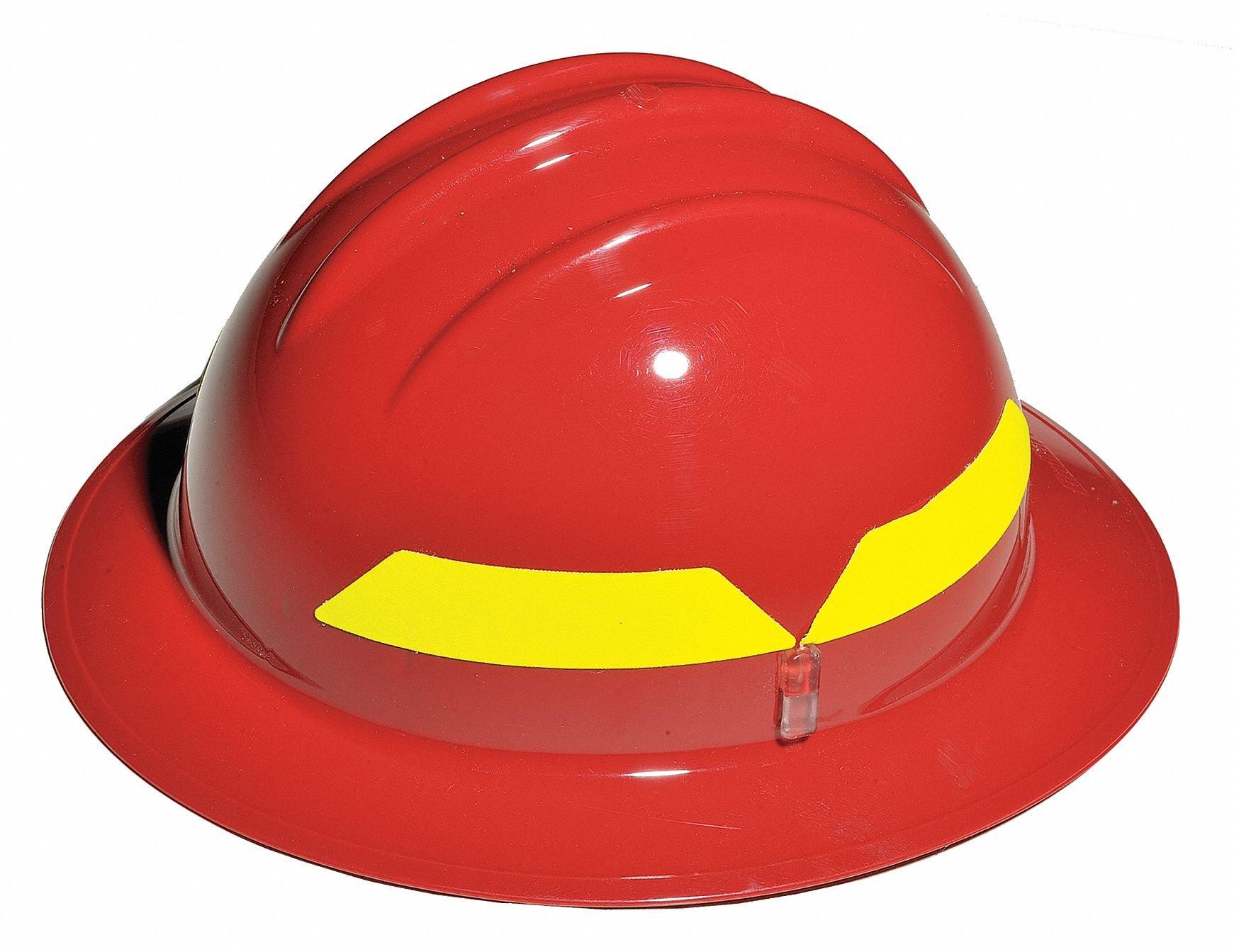 Fire Helmet, Red, Full-Brim