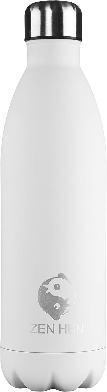 flacon vide/-/Isotherme /à double paroi Bouteille d/'eau potable en acier inoxydable.24/heures froid et 12/heures de chaleur 750/ml 1l. ZenHen 500