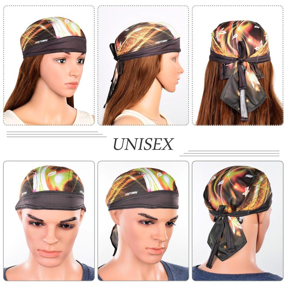 VBIGER Bandana Headwrap Headscarf Adjustable Quick Dry Hat Durag Cap Yellow