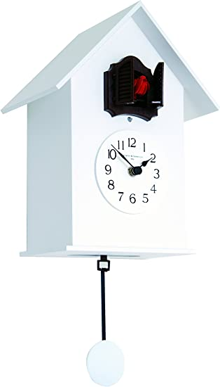 wood White Diamantini /& Domeniconi Meridiana 220 Cuckoo Clock