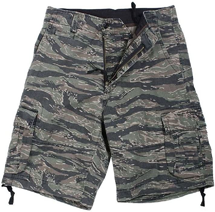 Bellawjace Clothing Tiger Stripe Camouflage Vintage Infantry Camouflage  Military Cargo Shorts c05e0a69b