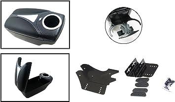 flexzon Black fabric cloth armrest center console fit for