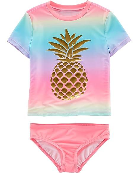 a855a3719e Amazon.com: OshKosh B'Gosh Girls' Two-Piece Swimwear: Clothing