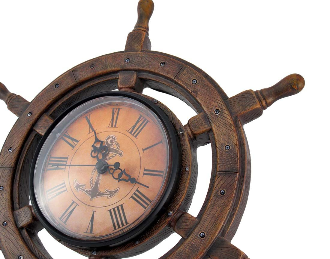 Master of Destiny Ship Wheel Nautical Wall Clock