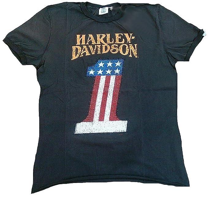 H D Classic Men – Camiseta de carbón vegetal Official Harley Davidson Number 1 personalizada brillantes Estados