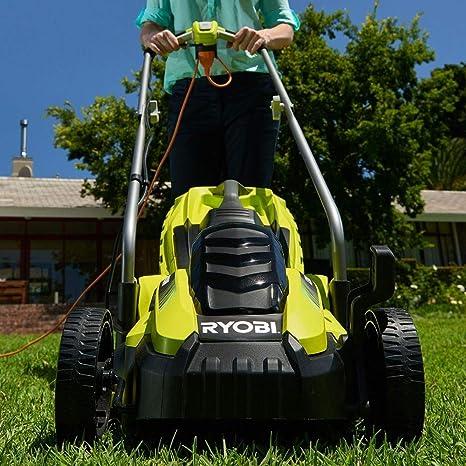 Ryobi RLM13E33S RLM13E33S-Cortacésped eléctrico (ancho de corte de 33 cm, 1300 W, Negro, Verde