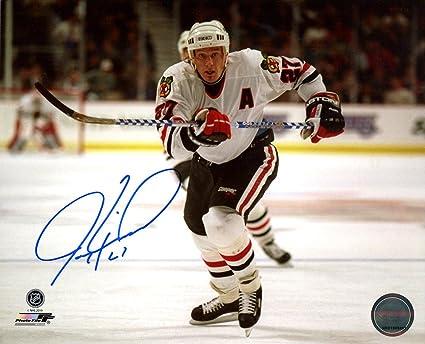Jeremy Roenick Signed Autographed Chicago Blackhawks 8x10 Photo TRISTAR COA 0773ea72a