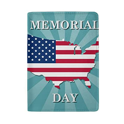 ColourLife Honoring All Who Served Banner Leather Passport Holder Passport Cover