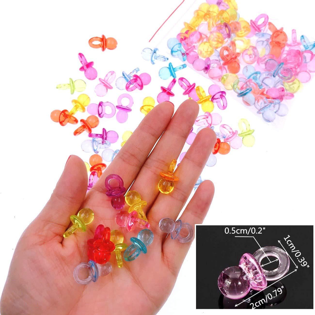 JZK® 100 x Mini Dummy Chupones Mini acrílico Chupete, dispersión de la Tabla Confetti Partido Favor Accesorios de Decoraciones para la Fiesta de ...