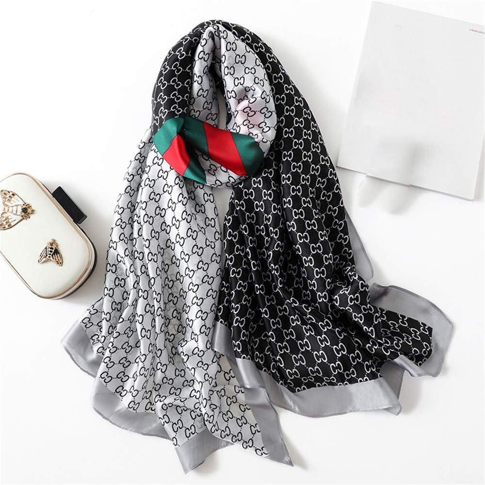 Sciarpa da Donna Scialle Sciarpa Doppio Uso Caldo e Antivento Giallo DYEWD sciarpe di Alta qualit/à in Seta Sciarpa Selvaggia Moda
