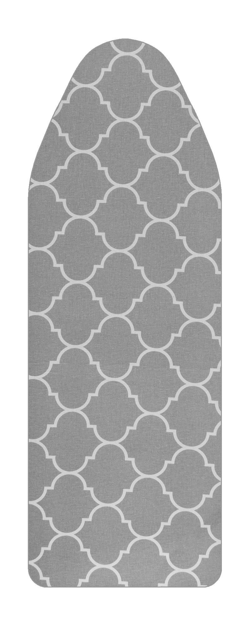 VieveMar Premium Ironing Board Cover, Thick padding with Cotton, Foam and Felt Pad, EASY FIT with DrawString, Heat Reflective. Fits Boards 15'' x 48'' (Moroccan clover)