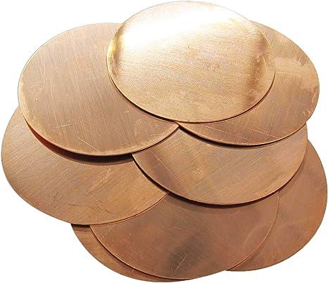 """Lot of 5 18 Gauge 1 1//2/"""" Brass Discs"""
