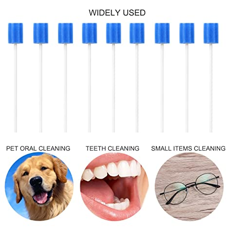 ROSENICE Esponja de limpieza dental hisopos bucales esponjas desechables para el cuidado oral hisopos orales 100 piezas: Amazon.es: Salud y cuidado personal