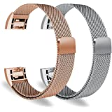 "Oitom Fitbit Charge 2 Accessory replacement Band,(2 Size) Large 6.7""-9.3"" Small 5.1""-6.7"" 2 PACK"